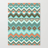 aztec Canvas Prints featuring Aztec by Priscila Peress