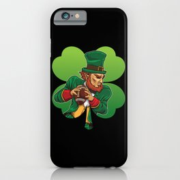 American Football Leprechaun - Lucky Irish iPhone Case