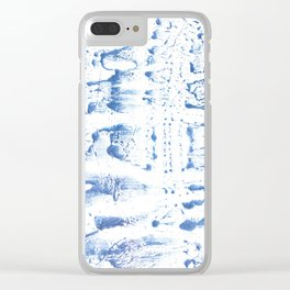 Light blue watercolor Clear iPhone Case