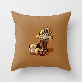 Doggo Punk Throw Pillow