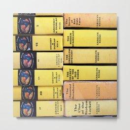Nancy Drew Vintage Books Metal Print