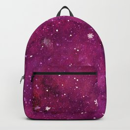 Watercolor galaxy - pink and purple Backpack