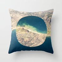 america Throw Pillows featuring AMERICA by DILLON MCINTOSH