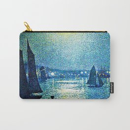 Classical Masterpiece 'Moonlight Night in Boulogne, Italy' by Theo van Rysselberghe Carry-All Pouch
