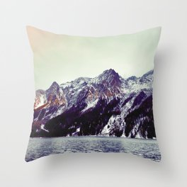 Lake and Mountains  - Nature Photography Throw Pillow
