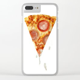 Pizza & Porn Clear iPhone Case