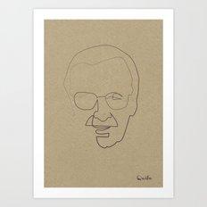One Line Stan Lee Art Print