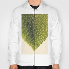 green leaf abstract Hoody