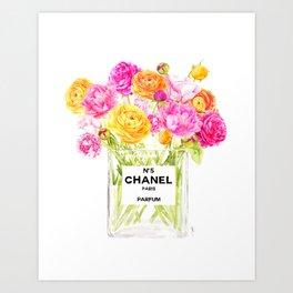 FLORAL No.5 PERFUME Art Print