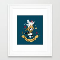 hyrule Framed Art Prints featuring hyrule airlines by Louis Roskosch