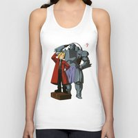 fullmetal alchemist Tank Tops featuring Alchemist of Steel by CromMorc