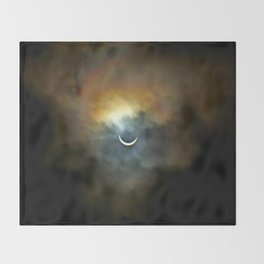 Solar Eclipse II Throw Blanket