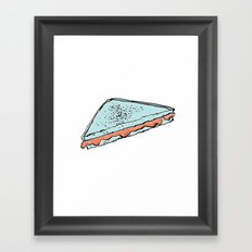 grilled cheeziz Framed Art Print