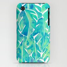 Split Leaf Philodendron – Turquoise Slim Case iPhone (3g, 3gs)