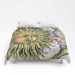 Sun and Moon Faces Comforters