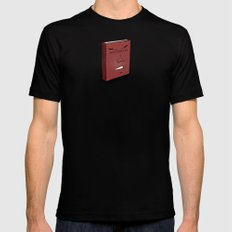 Don't Judge a Book By Its Cover Mens Fitted Tee Black SMALL