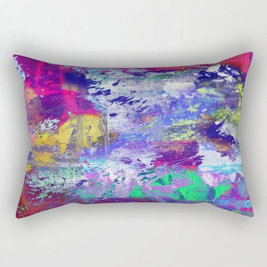 Rainbow Anguish Rectangular Pillow