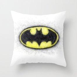 Bat Symbol Throw Pillow
