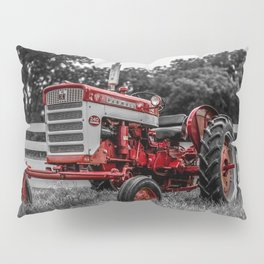 IH 240 Farmall Tractor Red Tractor Color Isolation Pillow Sham