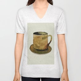 Mug on Plate Unisex V-Neck