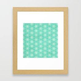 Asterisk Small - Turquoise Framed Art Print