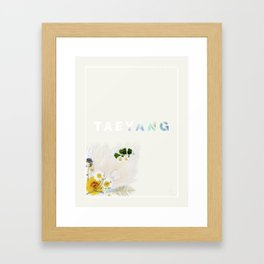 White Night Album - Taeyang Edition Framed Art Print