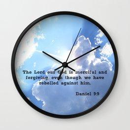 Daniel 9:9 Wall Clock