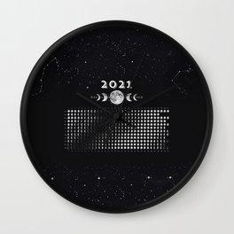 Moon Calendar 2021 (Moon phases 2021) — #6 Wall Clock
