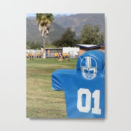 Football Dummy Metal Print