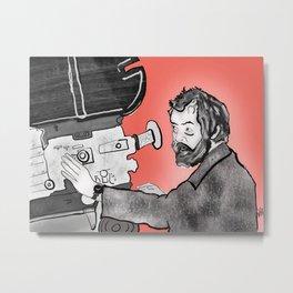 Portrait of Stanley Kubrick Metal Print