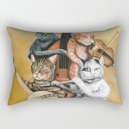 Cat Quartet Rectangular Pillow
