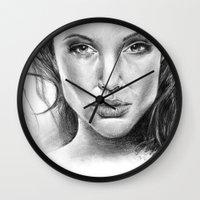 fierce Wall Clocks featuring Fierce by Brianna Bizik