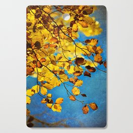 golden leaves Cutting Board
