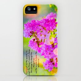 Serenity Prayer - II iPhone Case