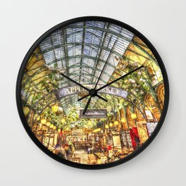 The Apple Market Covent Garden London Watercolour Wall Clock