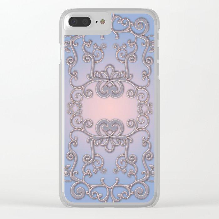 Rose Quartz Serenity Enblem Clear iPhone Case