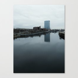 Building Reflecting On The Schuylkill River Canvas Print