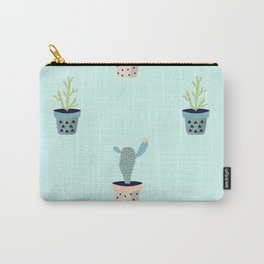 Doodle Succulents Print Carry-All Pouch