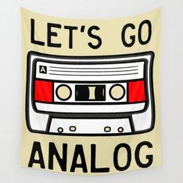 LET'S GO ANALOG - Cassette Wall Tapestry