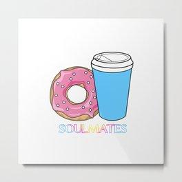 Soulmates-Coffee Metal Print