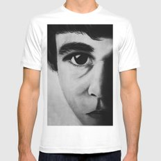 THE FIRST... MEDIUM White Mens Fitted Tee