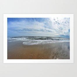 Waves Break Art Print