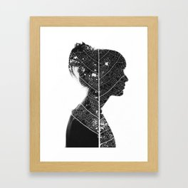 Silhouette and Photogram Framed Art Print