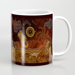 Desert Heat - Australian Aboriginal Art Theme Coffee Mug