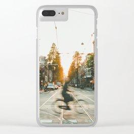 Amsterdam Bike Clear iPhone Case