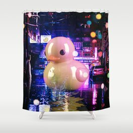 Rubber Duck Alley Shower Curtain