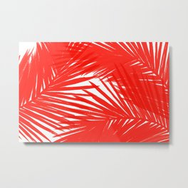 Palms Red Hot Metal Print