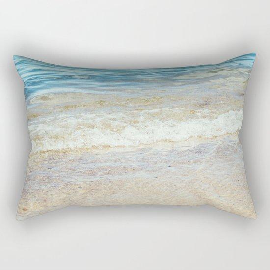 Wave Closeup At Blue Sea Rectangular Pillow