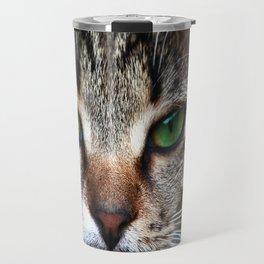 Staring Cat Travel Mug