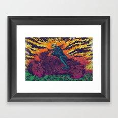 DOOM RIDER Framed Art Print